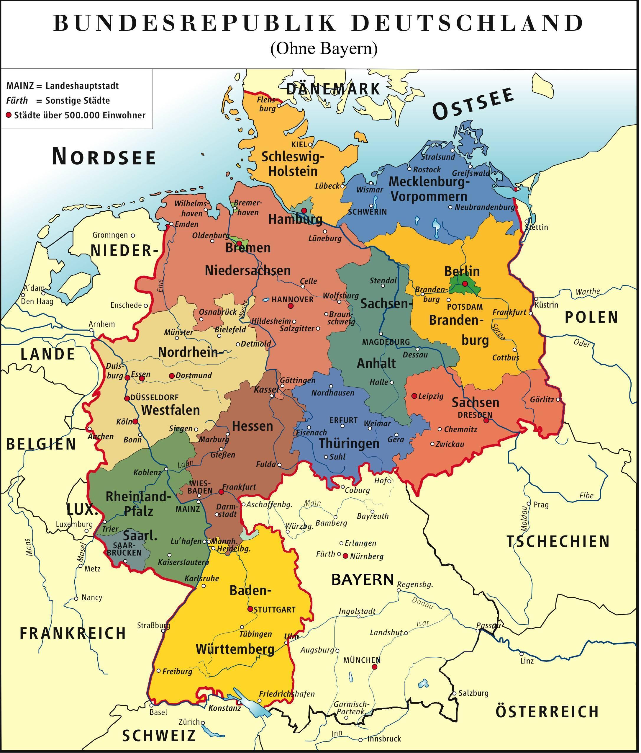 Bayern Germania Hartă Bayern Munchen Hartă Bavaria Germania