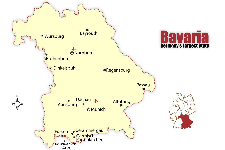 Munchen Germania Hartă Munchen Hartă Germania Bavaria Germania
