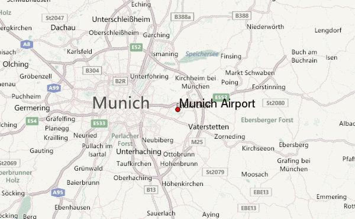 Harta Munchen Germania și Zona Inconjurătoare Harta Din Munchen