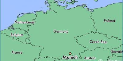 Munchen Hartă Hărți Munchen Bavaria Germania